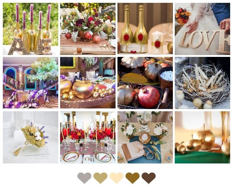 Golden Decor for Autumn Wedding