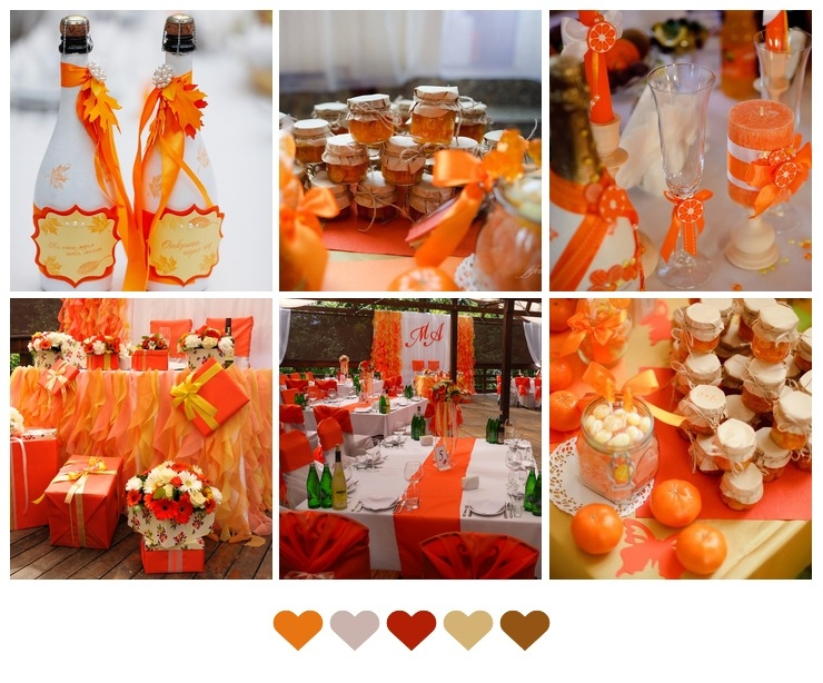 Bright Autumn Wedding Decorations