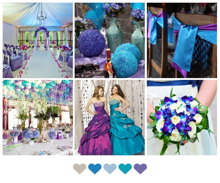 Turquoise and Purple Wedding Ideas