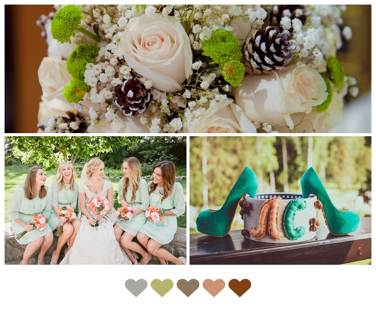 Pure White and Nature Green Wedding