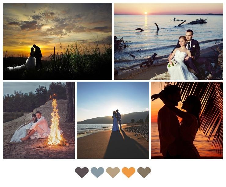 Sunset wedding photo ideas
