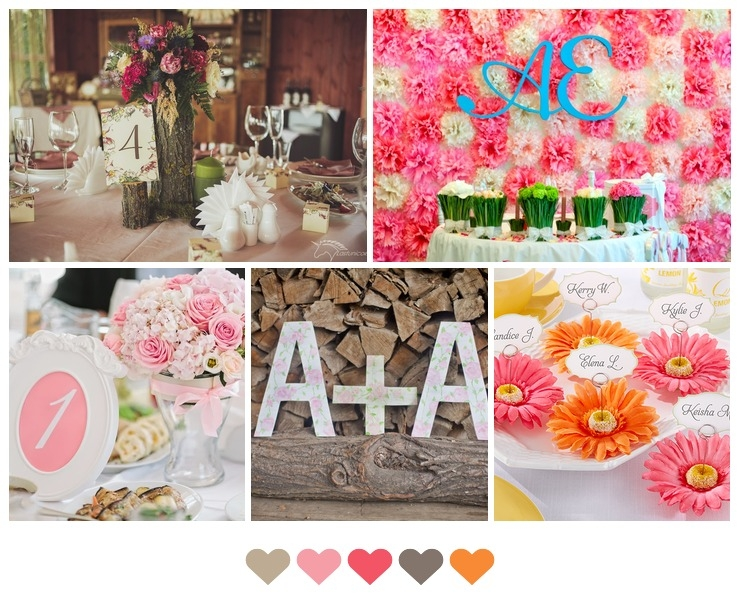 Décor and flowers Pink in Summer Rustic