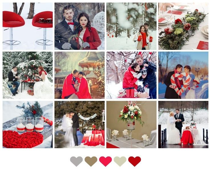 Red Winter Wedding Decor