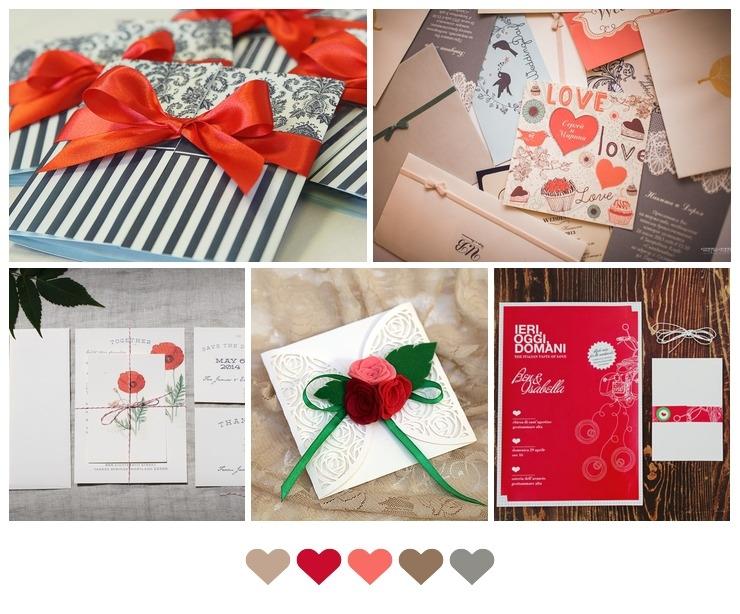 Red invitations