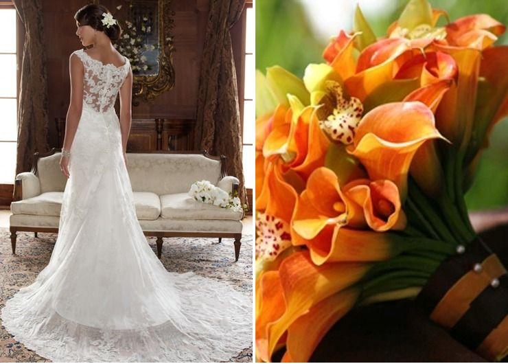 Wedding dresses Orange in Autumn
