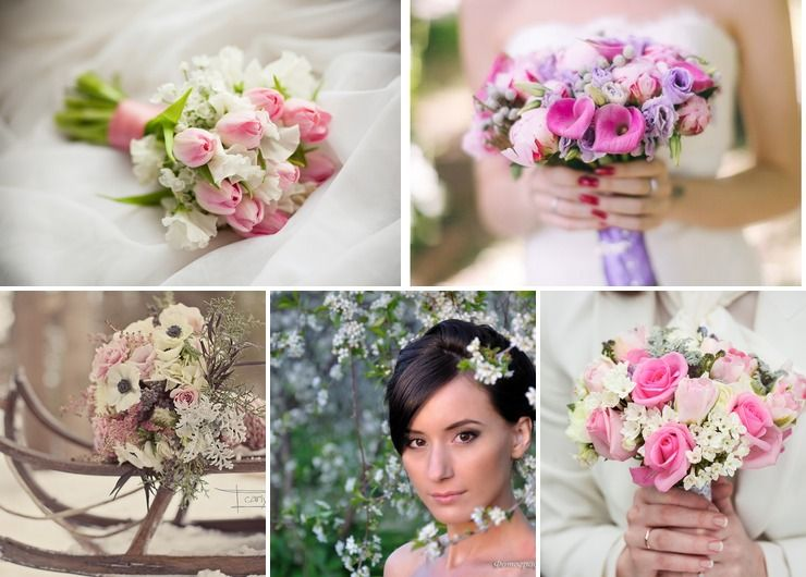 Spring purple bridal style