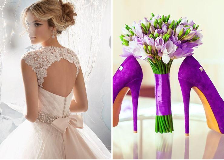 Wedding dresses Purple