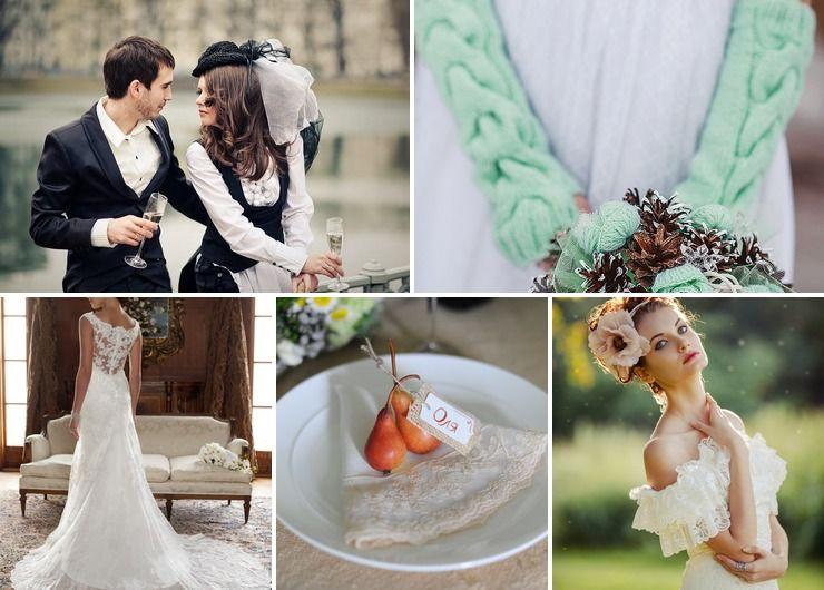 Themed autumn bridal style
