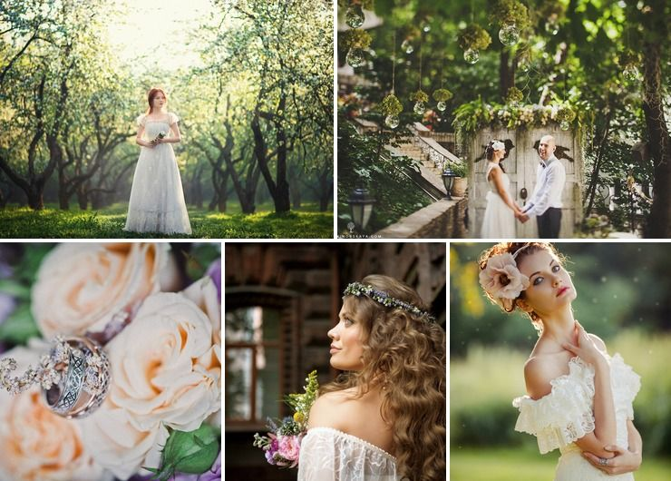 Wedding dresses Blue in Spring Vintage