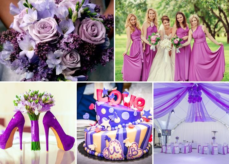 Bridal style Purple in Spring