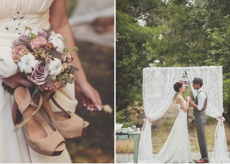 Bridal bouquet Brown in Summer Rustic