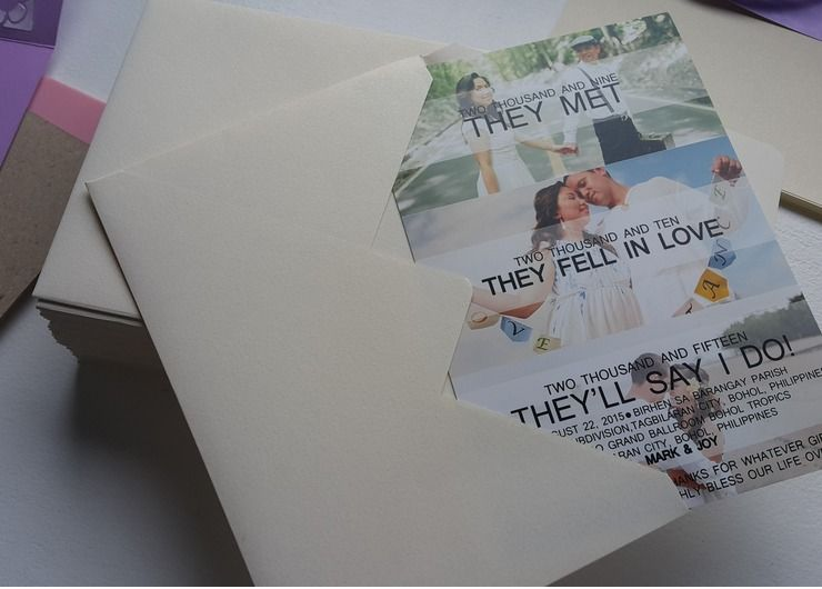 Mark and Joy Wedding Invitations