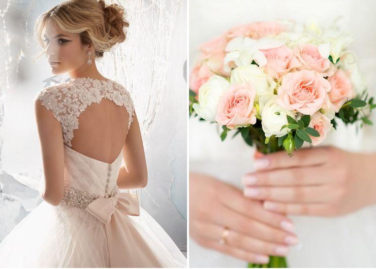 Wedding dresses Pink my dream wedding lol