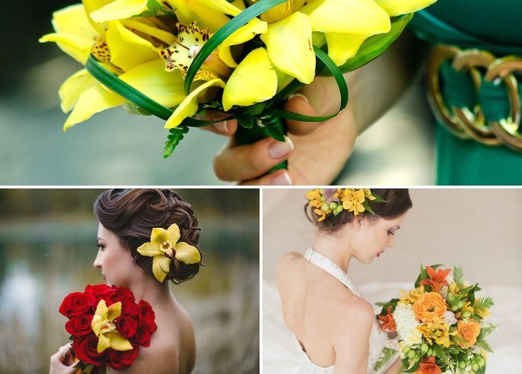 Outdoor autumn wedding accessories