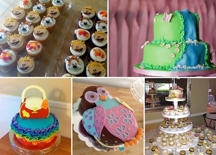 Celebration cakes and cupcakes