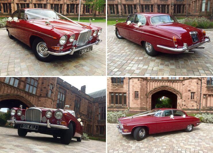 Bolton School Wedding, Reggie our Jaguar 420G