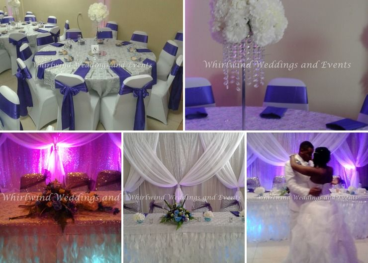 Silver and Purple Wedding Decor
