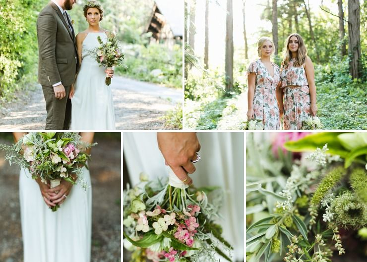 Lindsey and Mike : August wedding; sustainable, Midwest, chalet, summer