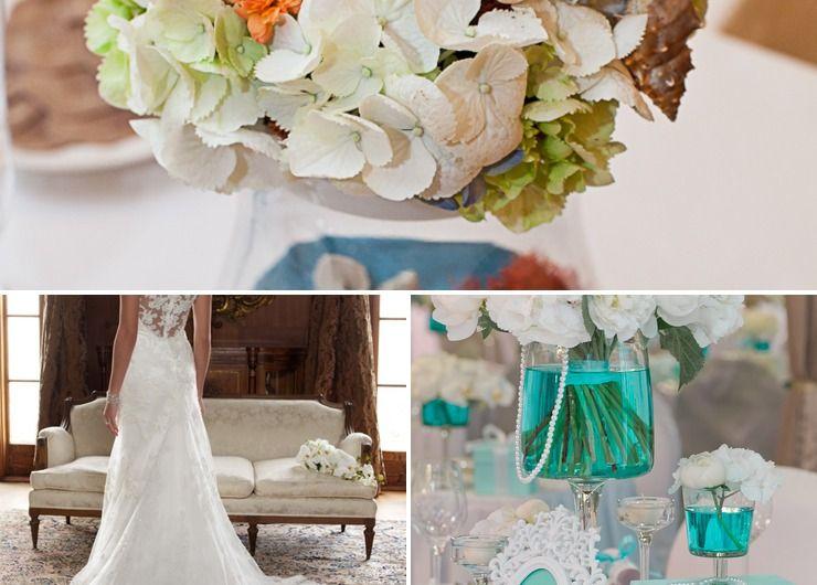 Marine blue bridal style