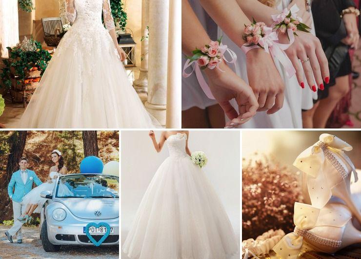 Wedding dresses Pink Vintage