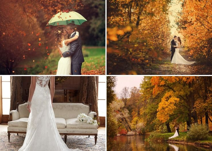 Autumn brown real weddings
