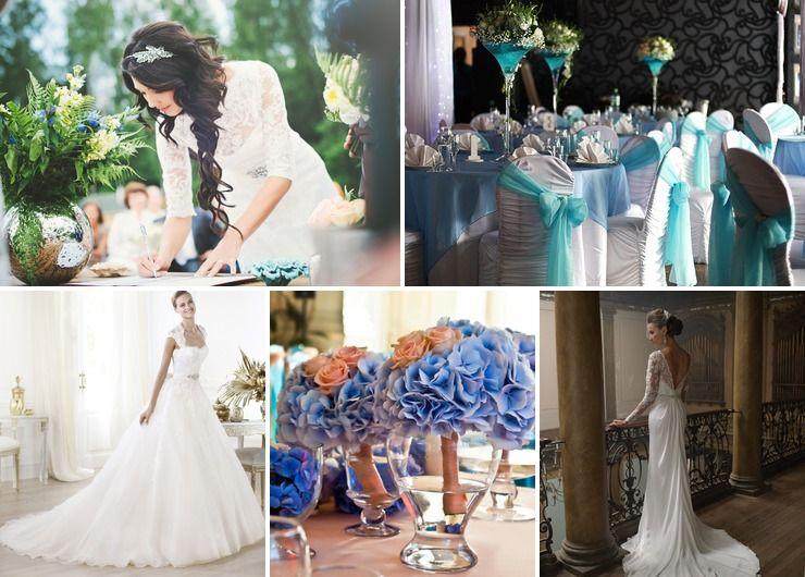 Wedding dresses Blue in Autumn Vintage
