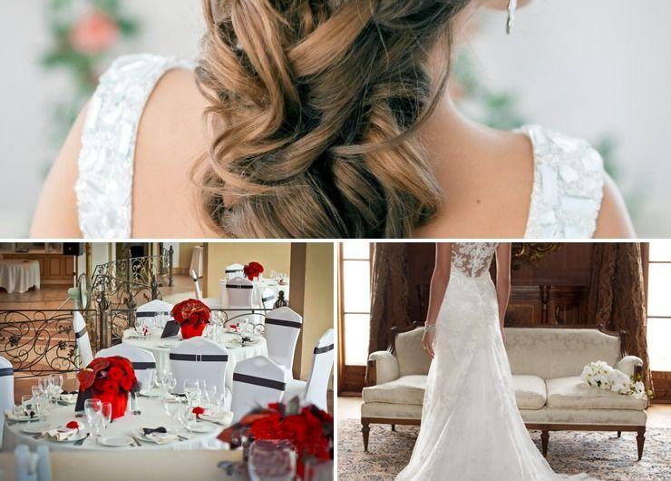 Vintage red long wedding dresses