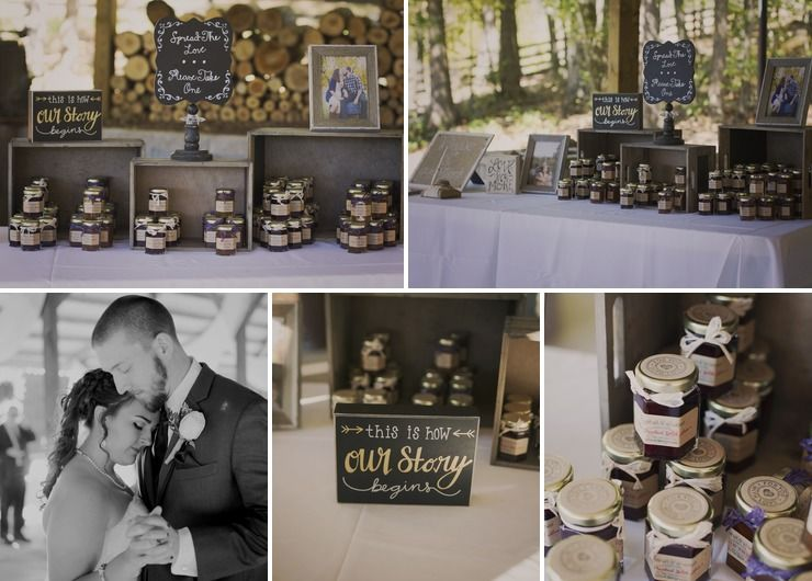 Rustic Wedding Jam Favors