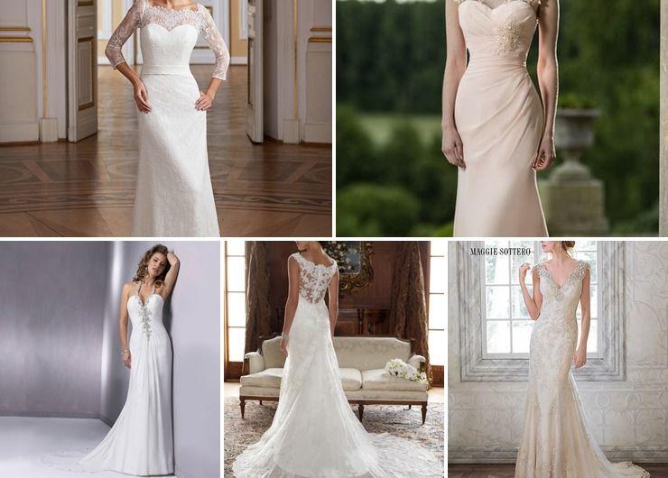 Straight wedding dress