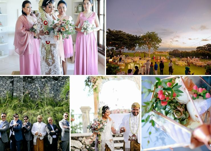 A Rose Gold Wedding at Villa Karang Putih