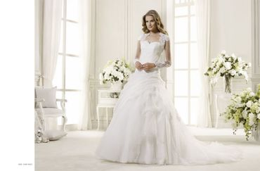 Short sleeve wedding dresses