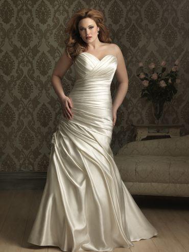Ivory curvy wedding dresses