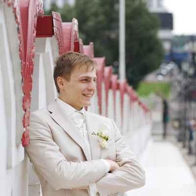 Ivory groom style