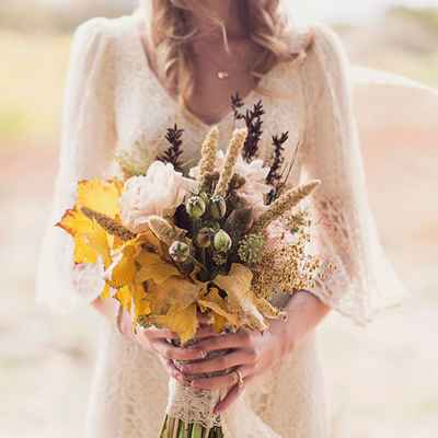 Rustic autumn alternative wedding bouquet
