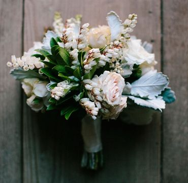 Rustic rose wedding bouquet