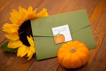 Autumn orange wedding invitations