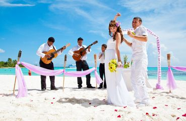 Beach pink real weddings