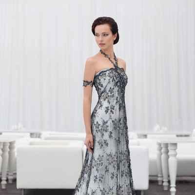 Black straight wedding dresses