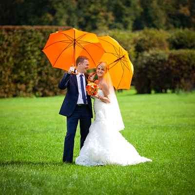 Orange real weddings