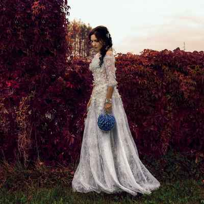 Autumn long sleeve wedding dresses