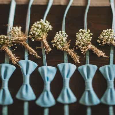 Rustic blue buttonhole