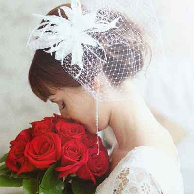 French red wedding accessories