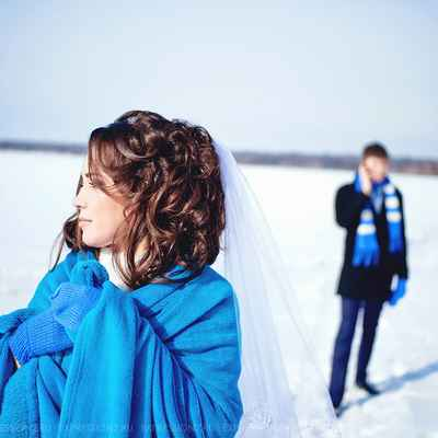 Winter blue real weddings