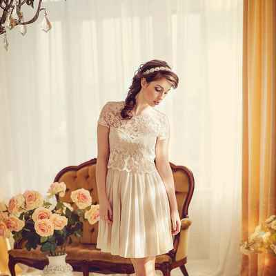 Closed wedding dresses