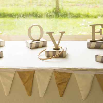 Rustic grey wedding reception decor