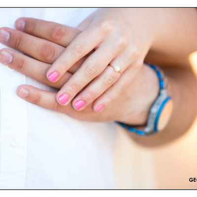 Pink wedding nail design
