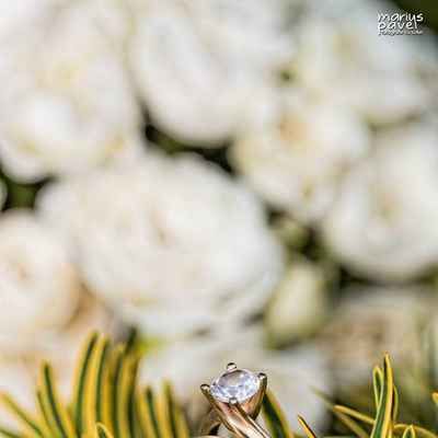 Summer gold wedding rings