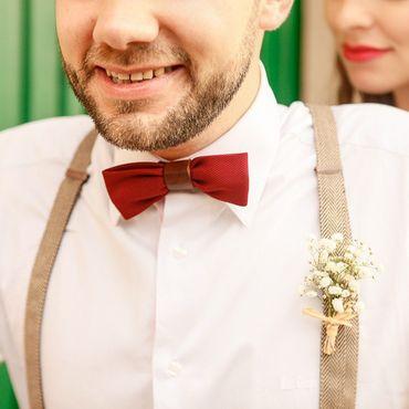 Vintage brown groom style