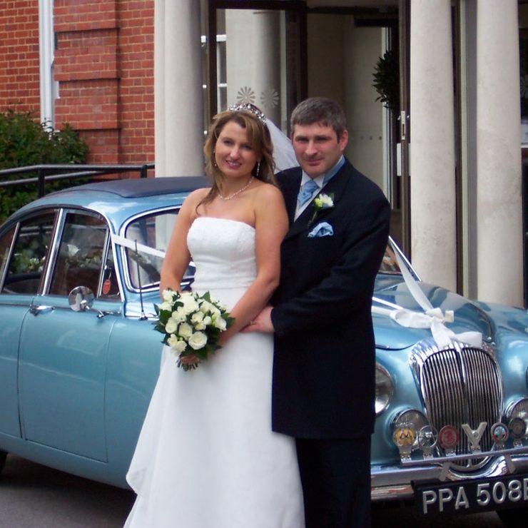 Our light blue Jaguar Mk2