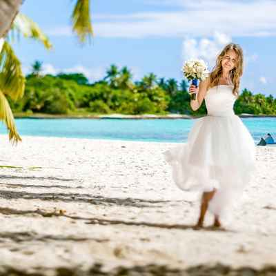 Overseas white short wedding dresses